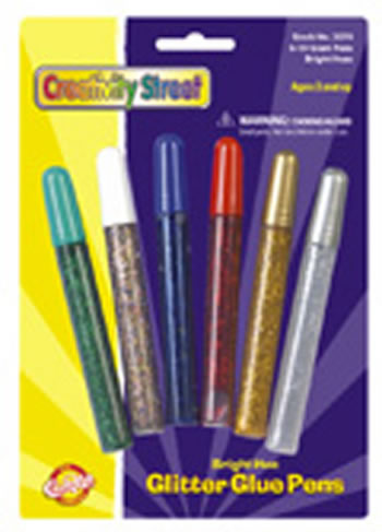 GLITTER GLUE PENS BRIGHT HUES COLOR