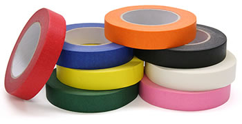 COLORED MASKING TAPE 8 ROLL ASSORTD