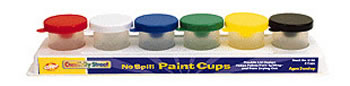 NO SPILL PAINT CUPS IN A 6-PK TRAY