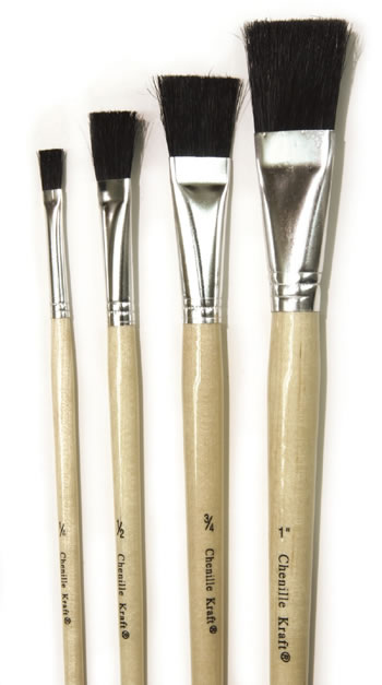 STUBBY EASEL BRUSHES 3/4IN 6PK