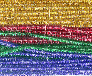 CHENILLE STEMS ASSORTED 12 SPARKLE