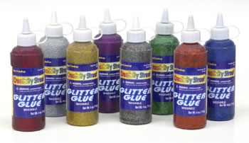 GLITTER GLUE GREEN 4 OZ