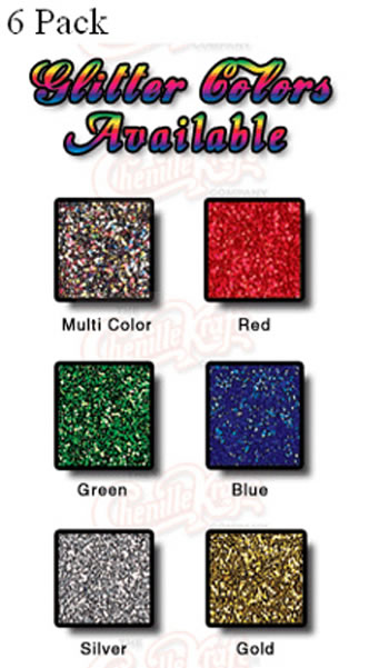 GLITTER 6 COLORS 3/4 OZ PLAIN BOX