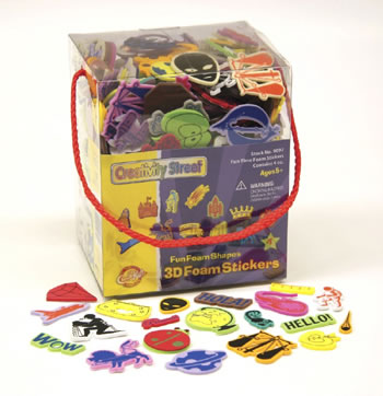 3D FOAM STICKER BOX WHIMSICAL SHAPE