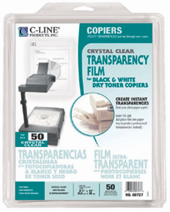 TRANSPARENCIES COPIER CLEAR 50 CT