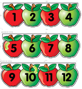 MINI BB SET APPLES NUMBER LINE