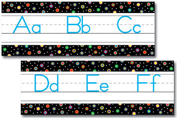 DOTS ON BLACK ALPHABET TRADITIONAL