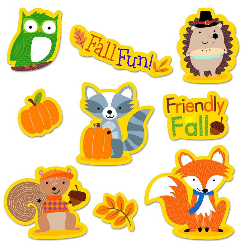 FALL WOODLAND FRIENDS STICKERS