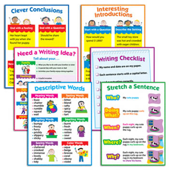 WRITING 6-CHART PACK GR 1-3