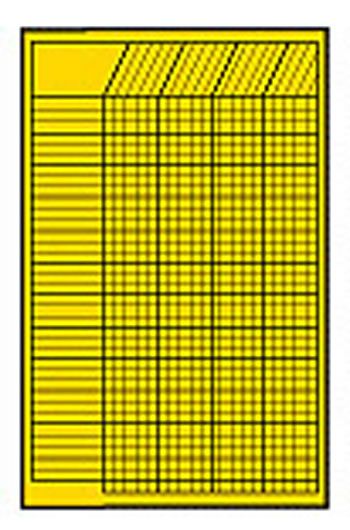 CHART INCENTIVE SMALL YELLOW