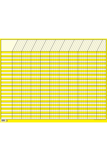 CHART INCENTIVE HORIZONTAL YELLOW