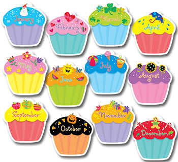 CUPCAKES JUMBO CUT OUTS