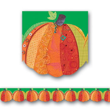 PUMPKIN HARVEST SHAPED BORDERS