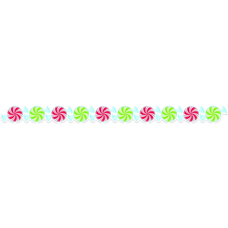 PEPPERMINT CANDIES BORDER