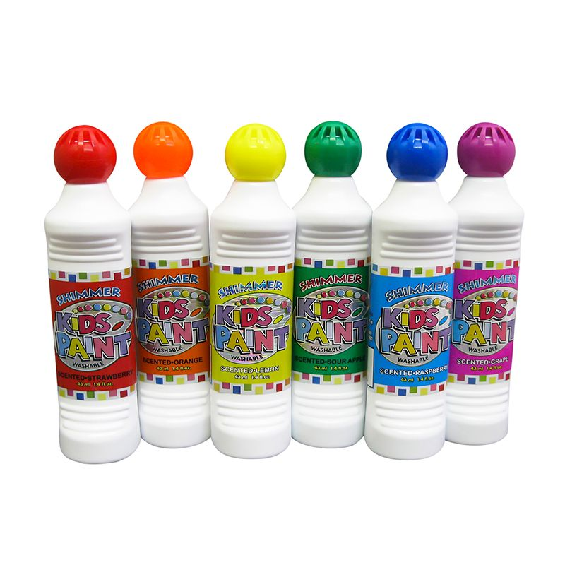 KIDS SHIMMER PAINT 6 ASSTD COLORS