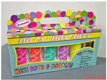 DO A DOT MARKERS 6PK MINI JEWEL