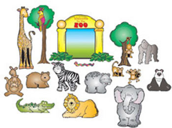 ZOO FRIENDS BULLETIN BOARD SET