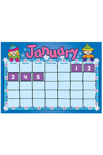 D J  KIDS CALENDAR KIT BB SET