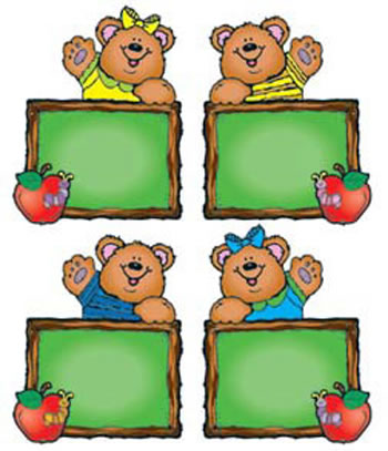 CHALKBOARD BEARS CUT-OUTS - ASSORTD