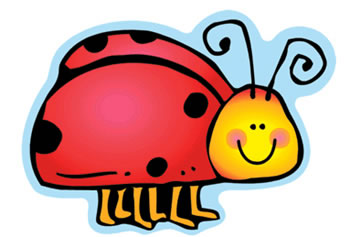 COLORFUL CUT OUTS LADYBUGS