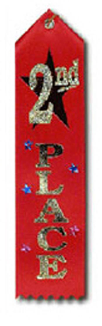 AWARD RIBBON 2ND 6-PK