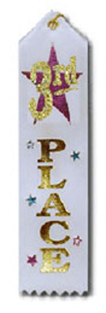 AWARD RIBBON 3RD 6-PK