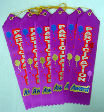 AWARD RIBBON PARTICIPATION 6-PK
