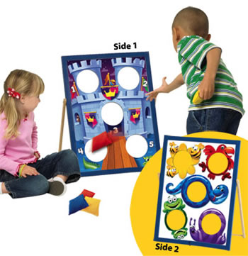 TWO SIDED BEAN BAG TOSS AGE 3 & UP
