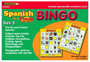 SPANISH IN A FLASH BINGO SET 3