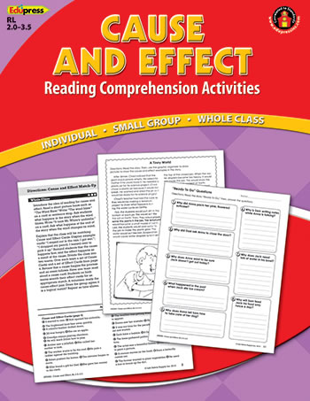 CAUSE EFFECT COMPREHENSION BOOK RED