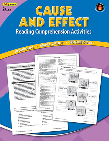 CAUSE EFFECT COMPREHENSION BOOK