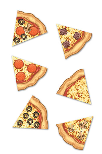 PIZZA SLICES MINI ACCENTS