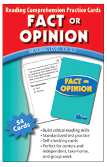 FACT OR OPINION PRACTICE CARDS