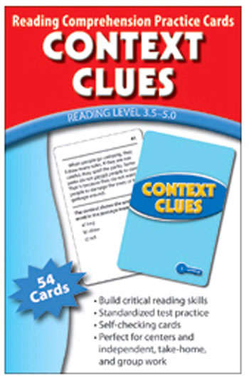 CONTEXT CLUES PRACTICE CARDS