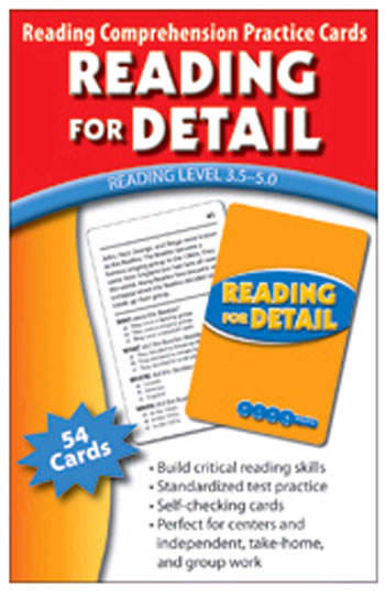 READING FOR DETAIL PRACTICE CARDS