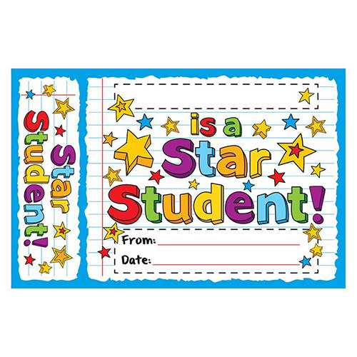STAR STUDENT DOODLES BOOKMARK AWARD