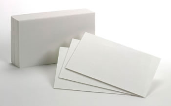 BLANK INDEX CARDS 10PKS/100EA 3X5