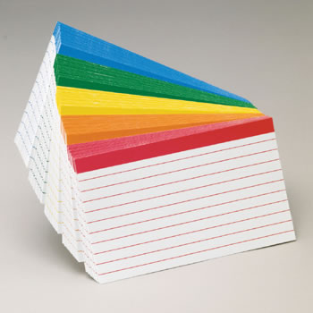 OXFORD COLOR-CODED INDEX CARDS 3X5