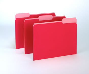 OXFORD 100CT RED COLORED TOP FILE