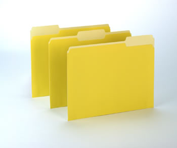 100CT OXFORD YELLOW COLOR TOP FILE