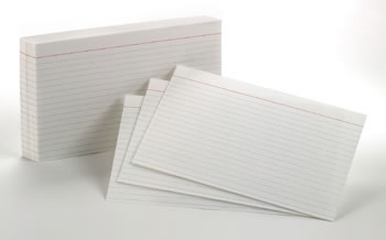 OXFORD INDEX CARDS 5X8 RULED WHITE