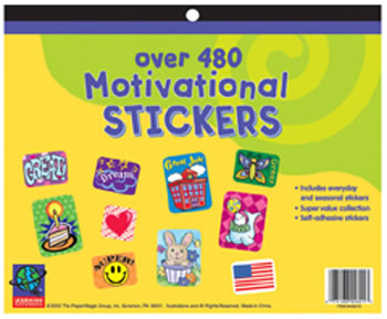 JUMBO STICKER BOOKS 480 CT