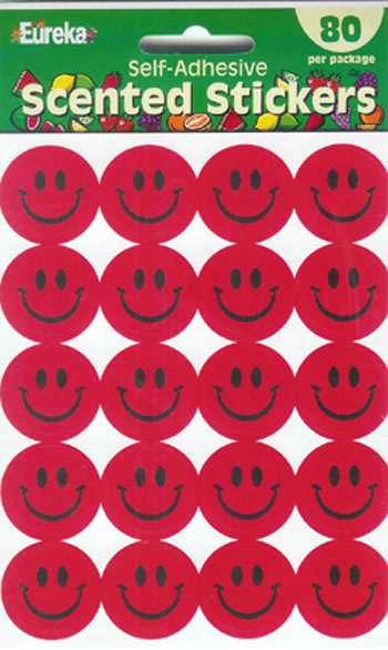 STICKERS SCENTED SMILES 80/PK