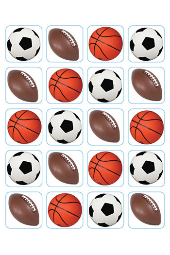 MIXED SPORTS THEME STICKERS