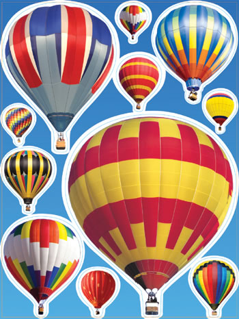 HOT AIR BALLOONS WINDOW CLINGS
