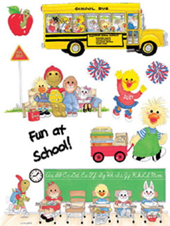 WINDOW CLING SUZYS ZOO SCHOOL 12X17