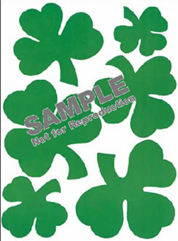 WINDOW CLING SHAMROCKS