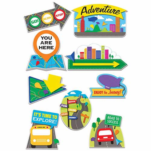 LEARNING ADVENTURE TWO SIDED DECO