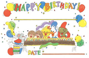BOARDS SUZYS ZOO BIRTHDAY 36/PK