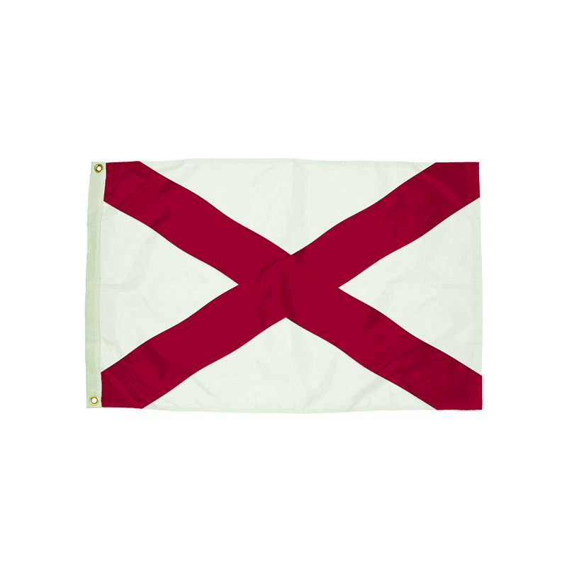 3X5 NYLON ALABAMA FLAG HEADING &